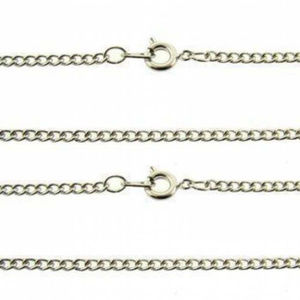 """white or yellow plated curb chains 18"""" Pack of 6"""